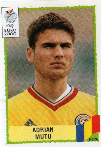 Adrian Mutu of Romania. Euro 2000 card.