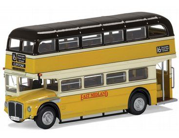 The Corgi 1/76 Routemaster, East Midland, 16 Clipstone is a superbly detailed diecast model bus in the Original Omnibus collection.