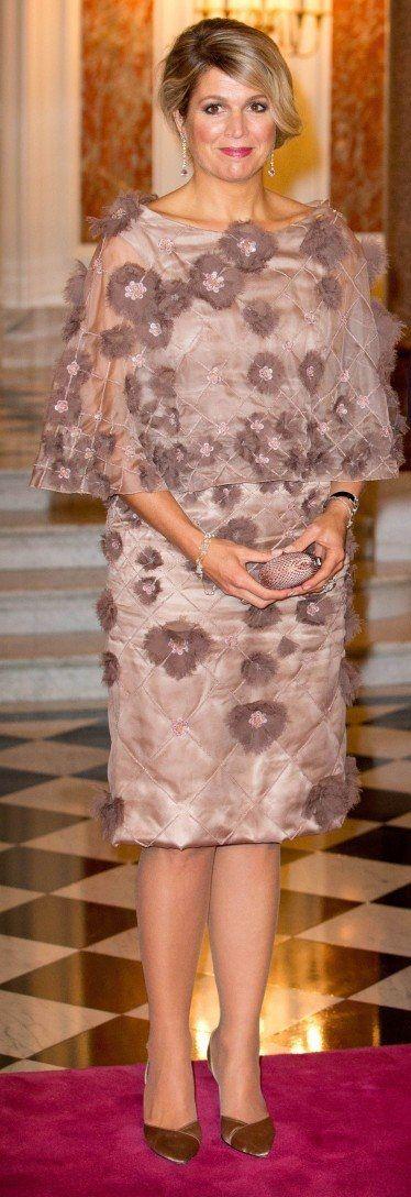 Queen Maxima in Jan Taminiau dress.