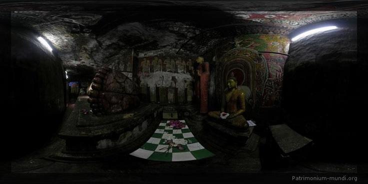 Dambulla, Sri Lanka (Buddha's feet), click through to Flash icon on bottom for panoramic view