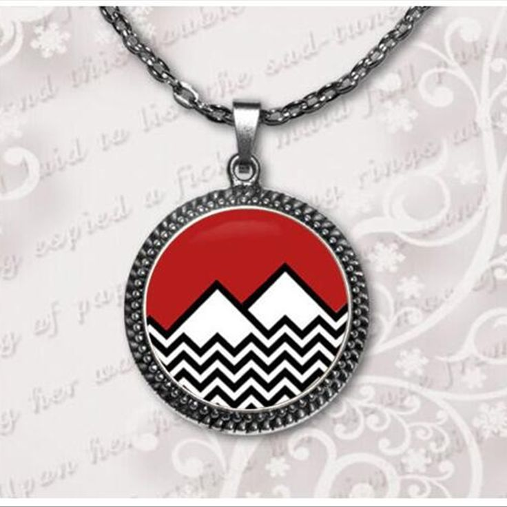 Fashion 2017 new Twin Peaks Necklace Twin Peaks Jewelry Glass cabochon necklace pendant  art gift for her or him  A-043-1