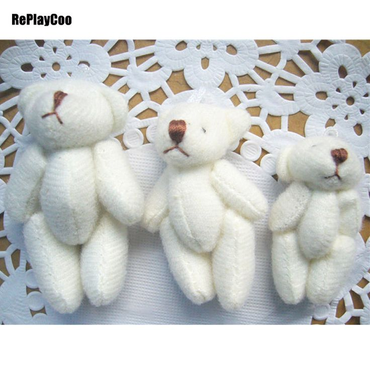 500Pcs/Lot Kawaii Small Joint Teddy Bears Stuffed Plush 4CM/6CM Toy Teddy-Bear Mini Bear Ted Bears Plush Toys Wedding Gifts 8601 #Affiliate
