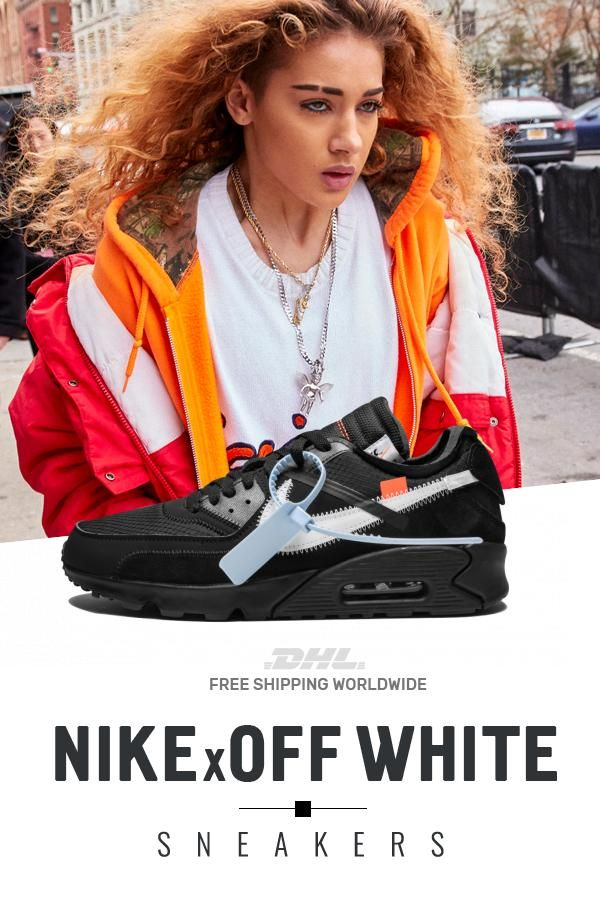 Womens Nike Off White Air Max 90 OW Black shoes in 2019