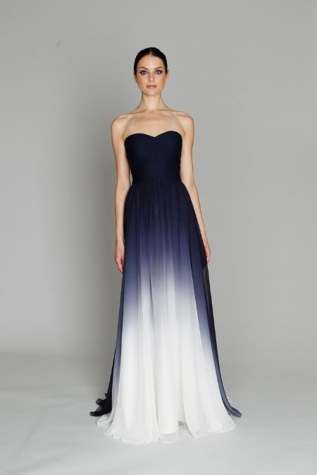 Ombre Bridesmaids dress. Omg This is my top choice for when ever I get married. But insted of blue it will be red faded into white. Yes yes yes yes yes!