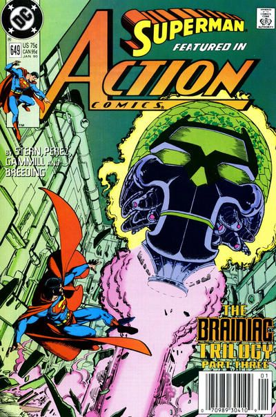 online boutiques Action Comics  DC  1938 series   649 Jan 1990