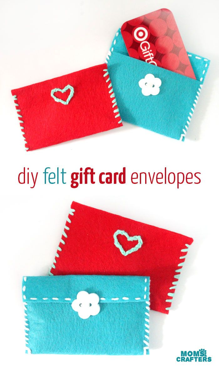 Sewing crafts for teens - Easy Diy Gift Card Envelopes