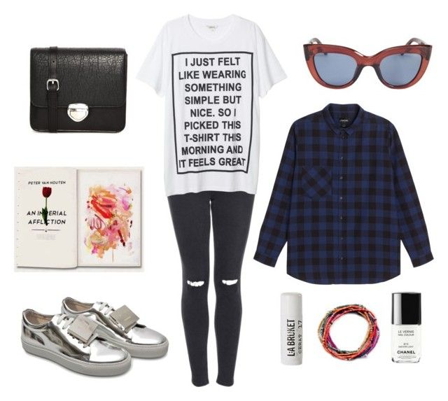 Hint of Metallic Shoes by iyafries on Polyvore featuring Monki, Topshop, Acne Studios and L:A Bruket