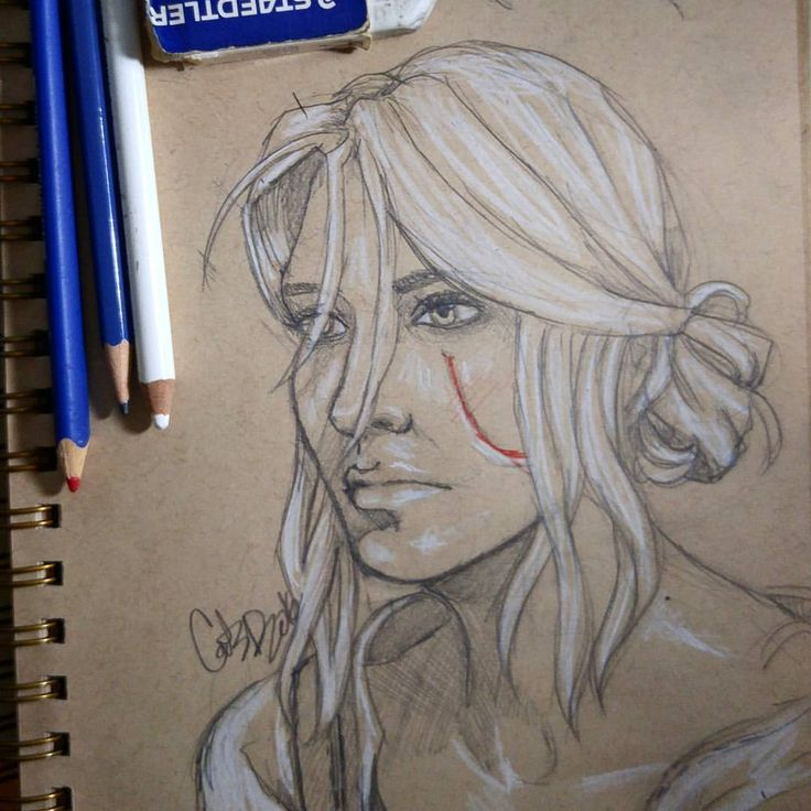 Felt like drawing for the first time in a while. Sketched Ciri from The Witcher…