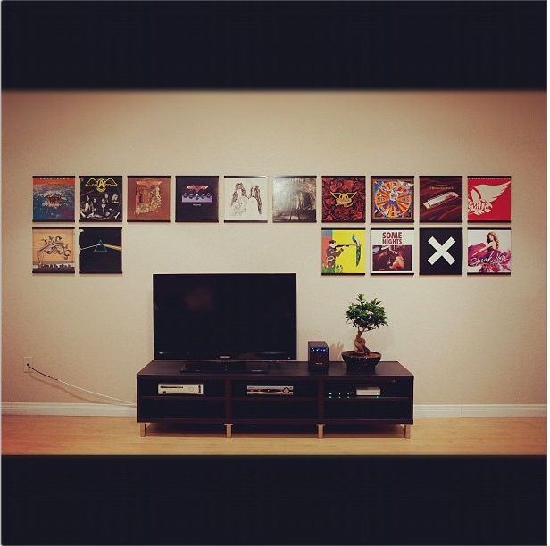 Image Gallery Records On Walls Vinyl Record Frame Framed Records Vinyl Record Display