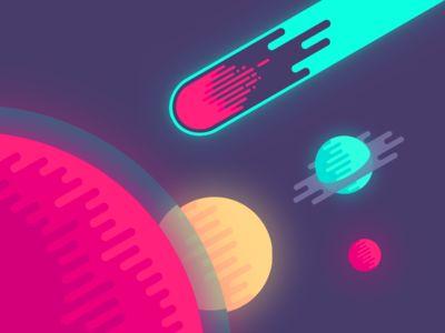 glowing Meteor