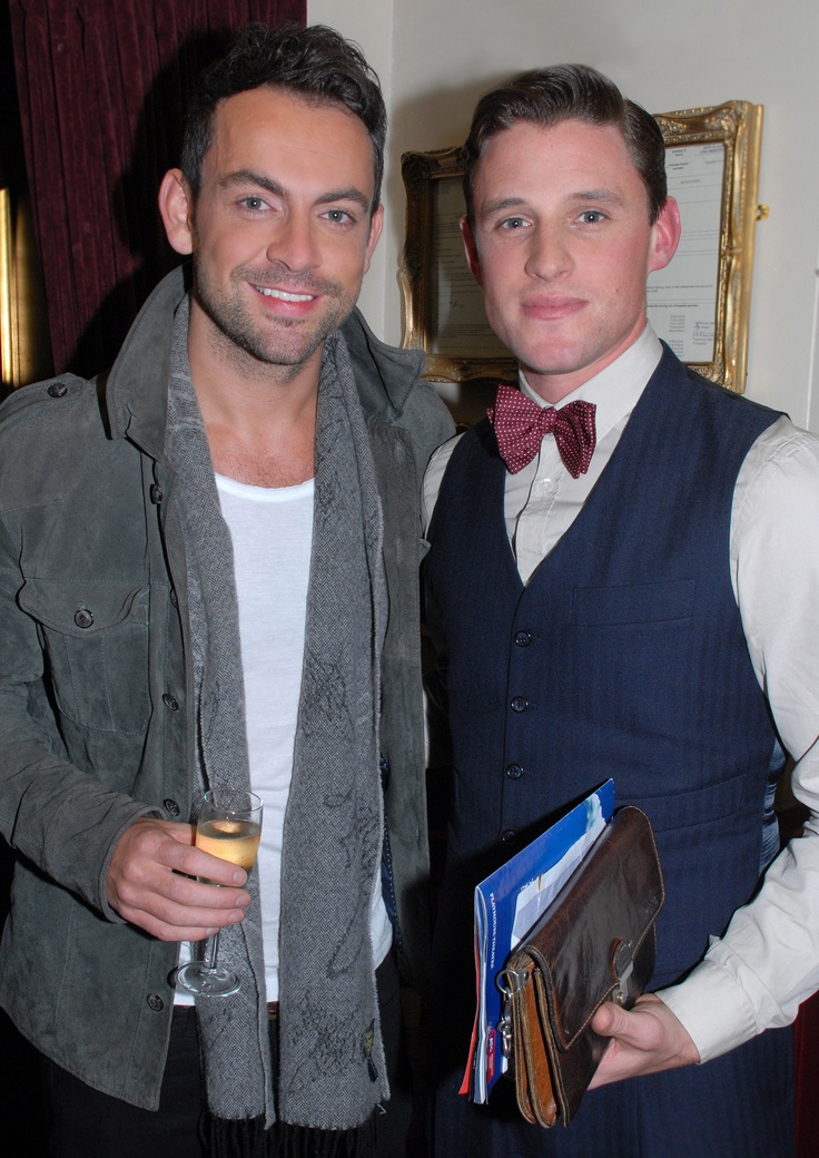 Ben Forster & Oliver Thornton at the Press Night of Spamalot at the Playhouse Theatre in London's West End.   Buy tickets at: http://www.atgtickets.com/shows/spamalot/playhouse-theatre/