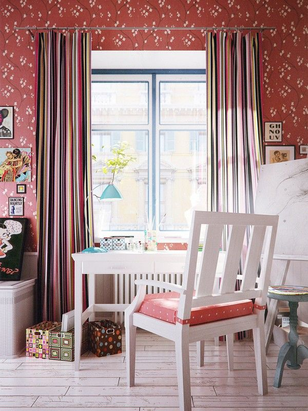 Wonderful work at home idea furniture red white stained Chair