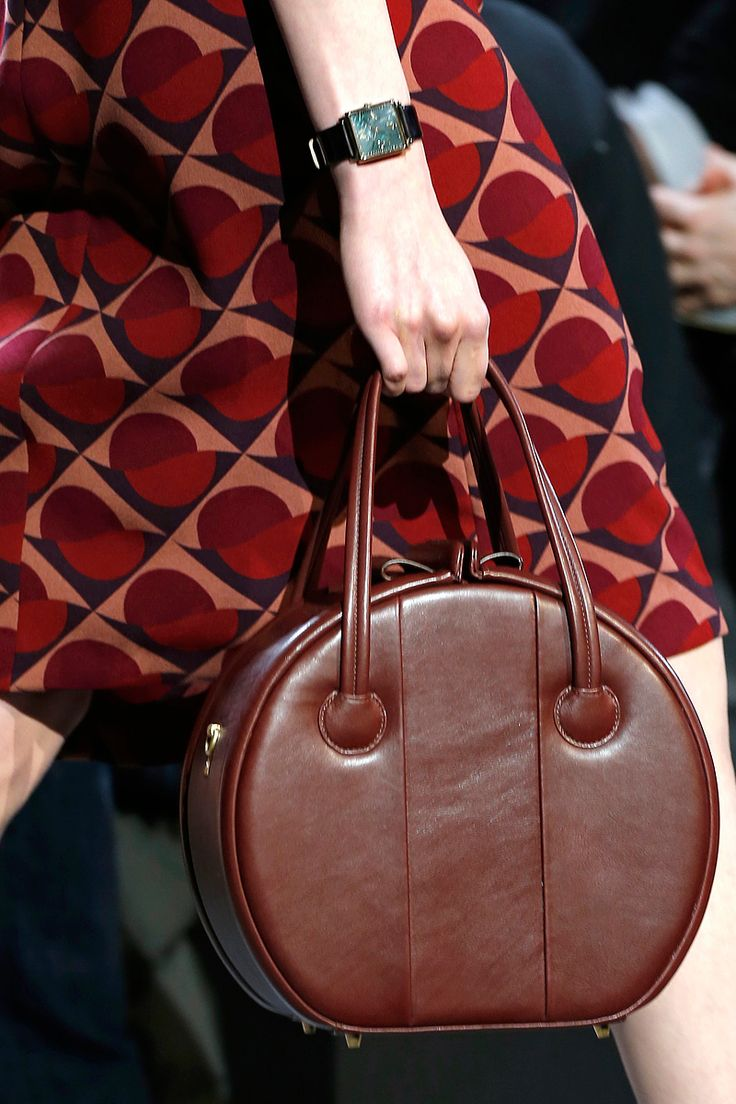 Marc by Marc Jacobs -- Fall 2013 RTW -- pattern and bag = fun :)