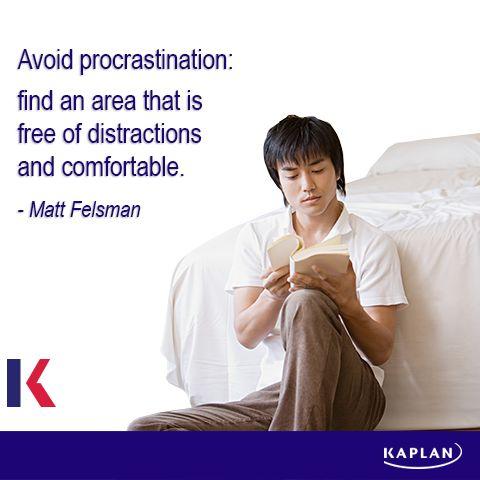 Study tip - Avoid procrastination.