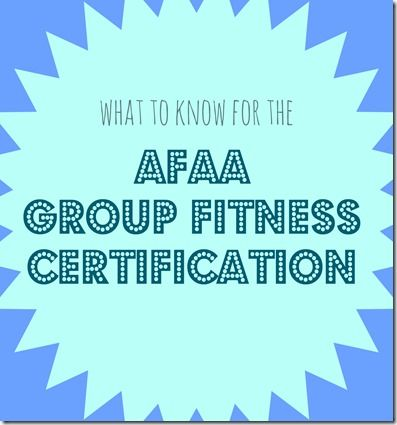 What you should know for the AFAA group fitness certification
