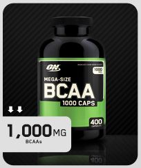 BCAA 1000 Caps Nutrition Information - helps maintain muscle mass