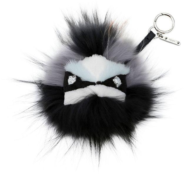 ysl clutch bag - mixed-stud lambskin fringe charm for handbag, black