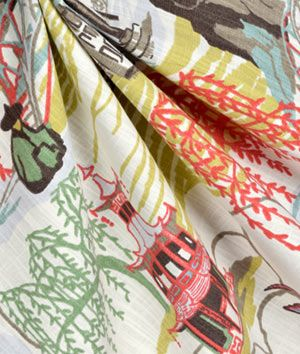 Robert Allen @ Home Neo Toile Coral Fabric                                                                                                                                                     More