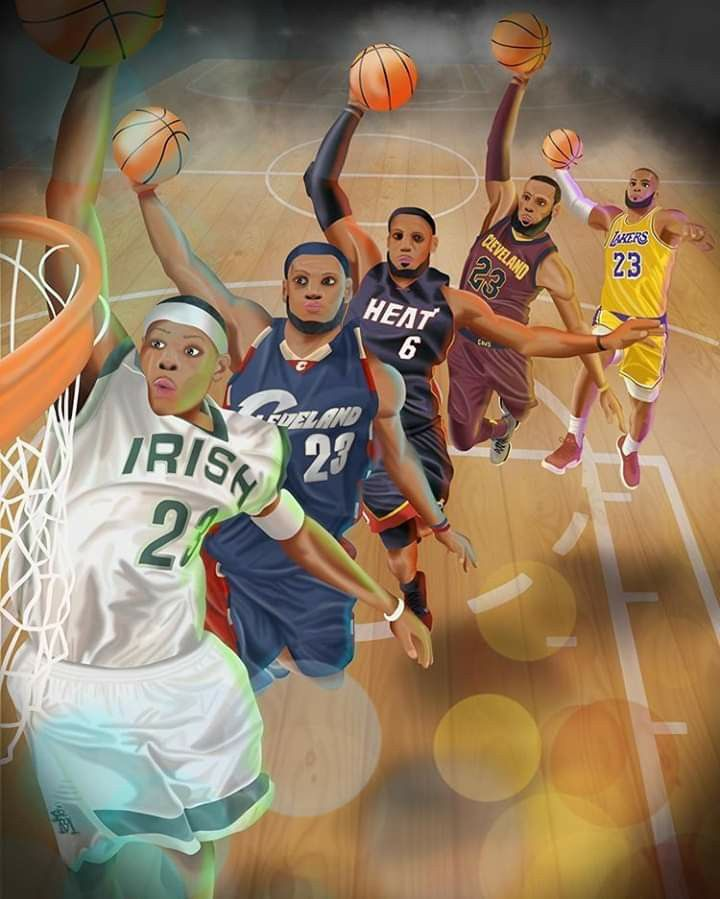 Pin By Wen Johnson On Ball Is Lyfe In 2020 Nba Basketball Art Lebron James Lakers Lebron James Heat