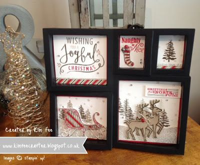 Stampin Up UK Demonstrator Simplyfairies: Santa's Sleigh Home Decor, Stampin' Up!