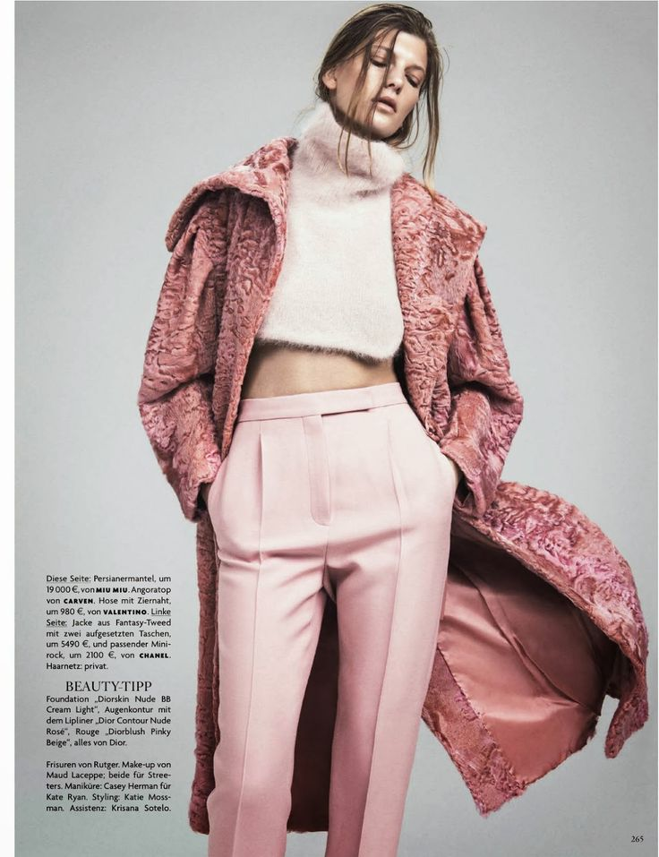 visual optimism; fashion editorials, shows, campaigns & more!: cool pink: valerija kelava by sebastian kim for vogue germany october 2013