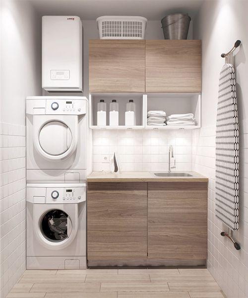 A maior parte de nós tem a máquina de lavar a roupa na cozinha. Mas porque não dedicar uma pequena divisão/espaço da casa (varanda, por exemplo) à roupa? Ficam aqui umas ideias.