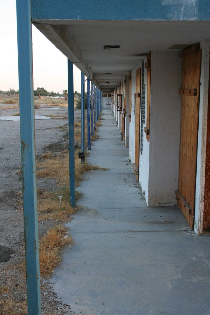 Abandoned motel, Salton Sea, CA.