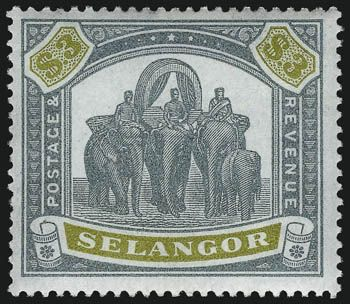 Selangor 1895 stamp  collector