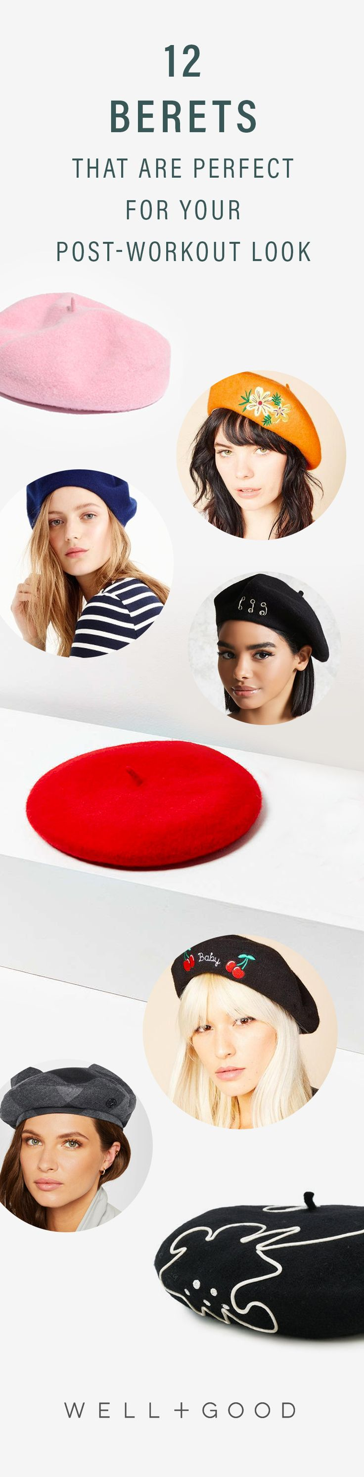 12 berets that are perfect for post - workout hair