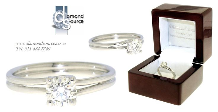 Platinum Solitaire -  This is one of our most recent commissions featuring a classic engagement ring design. This classy design we crafted from Platinum set with a 0.70ct. Round Brilliant-cut centre diamond. Please email or call us with any queries. FREE QUOTATIONS on any jewellery design you require. E: info@diamondsource.co.za W: www.diamondsource.co.za T: 011 484 7349