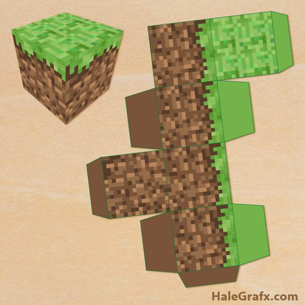minecraft treatbox FREE Printable Minecraft Treat Box