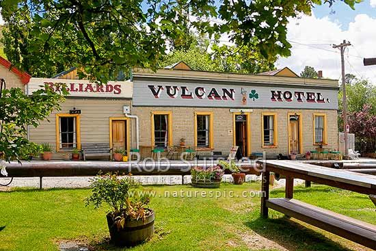 Vulcan Hotel (formerly Ballarat Hotel) at St Bathans was built of mud brick in