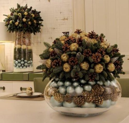 Fika a Dika - Por um Mundo Melhor: Natal Decoração Centro de Mesa