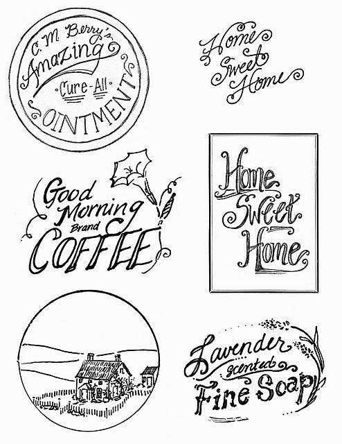 Vintage Printable   Advertisement Labels