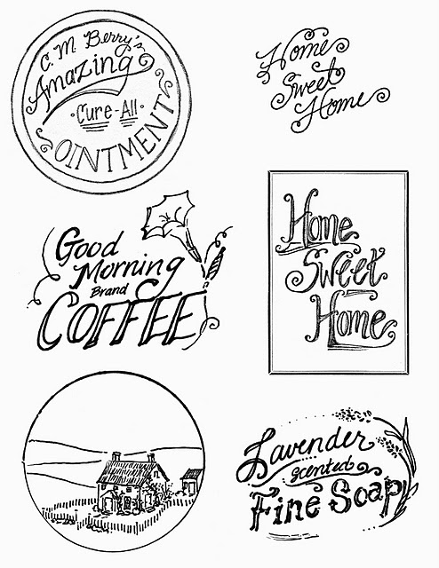 Vintage Printable   Advertisement Labels