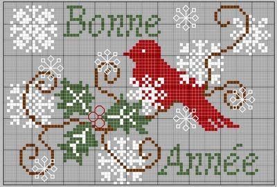 Bonne Année cross stitch (numerous free patterns)