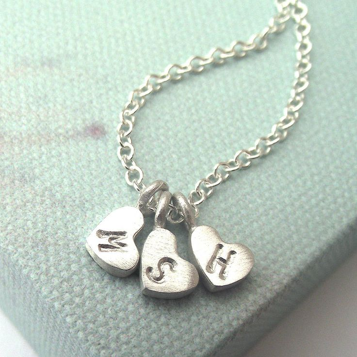 personalised little love heart necklace by zelda wong   notonthehighstreet.com