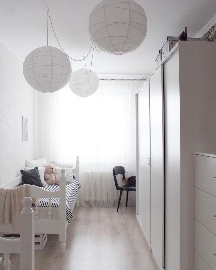 Детская комната для двух девочек  #детская#комната#икеа#спальня#белый#интерьер#inspiration#decor#ikea#todalen#regolit#тодален#светлая