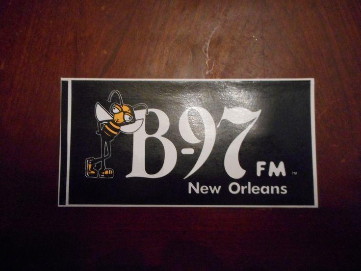 1993 wezb b 97 fm new orleans bumper sticker front side