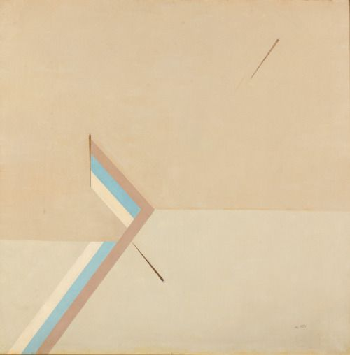 Eduard Steinberg (Russian, 1937-2012), Composition, 1975. Oil on canvas, 100 x 100 cm.