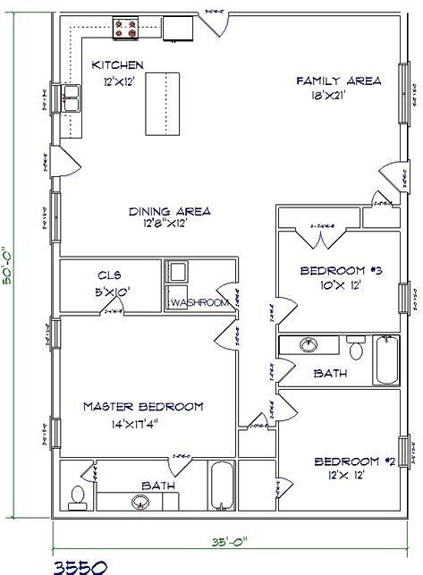 Image Result For 40x80 Pole Barn House Plans Pole Barn House Plans Barndominium Floor Plans