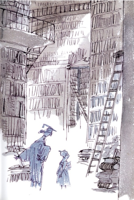 Quentin Blake and Joan Aiken's Winter Sleepwalker The light in this illustration!!!