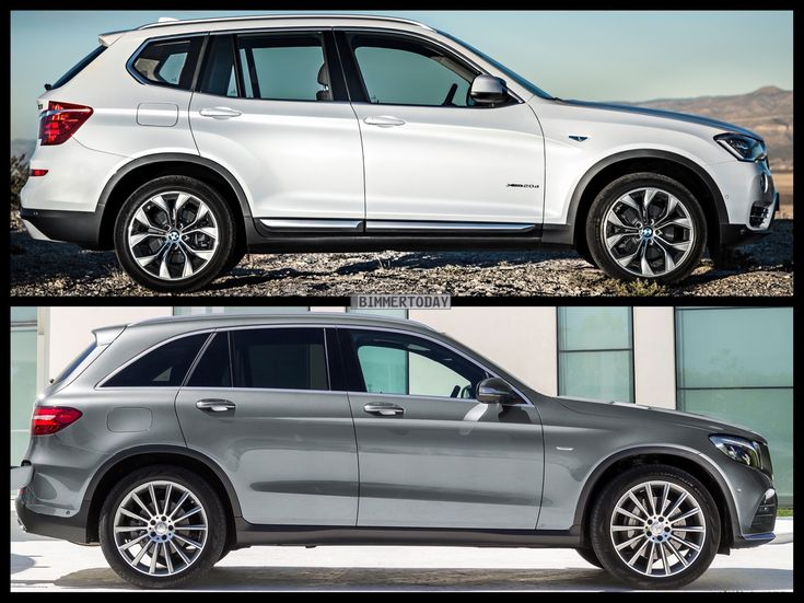 Bild-Vergleich-BMW-X3-F25-LCI-Mercedes-GLC-SUV-2015-04