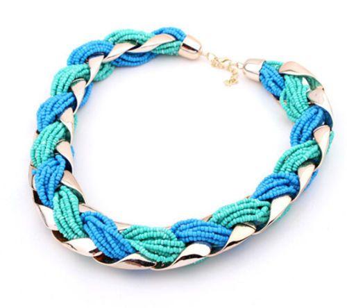 Women-Fashion-Jewelry-Pendant-Crystal-Choker-Chunky-Statement-Chic-Bib-Necklace