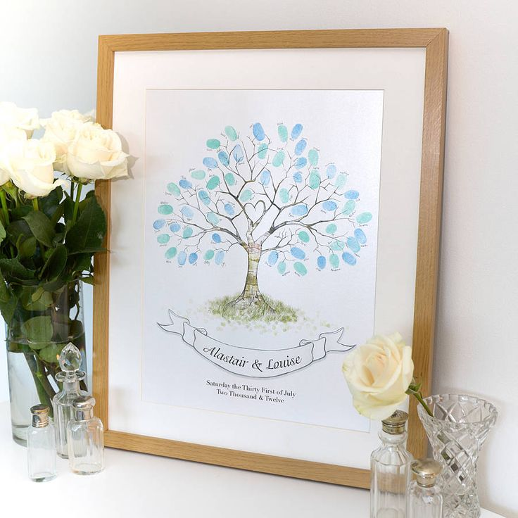 hand drawn wedding fingerprint tree by lillypea event stationery | notonthehighstreet.com