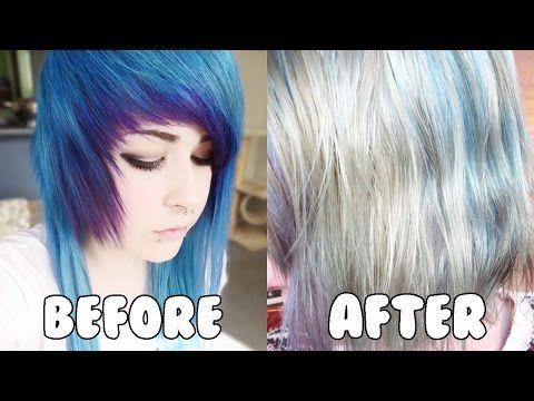 how to remove semi permanent hair dye c no bleach