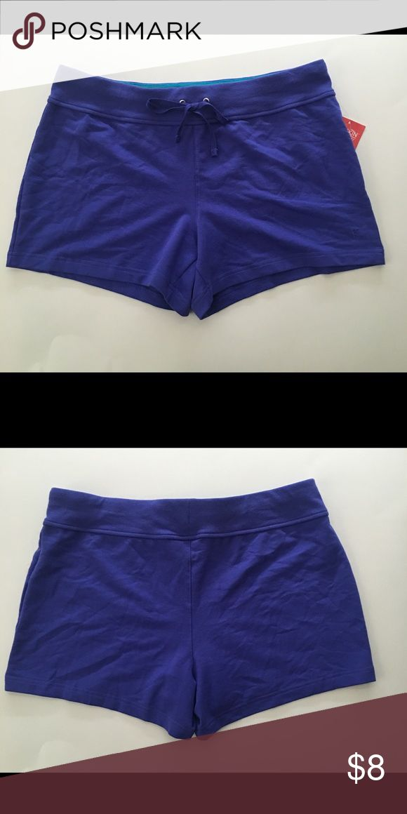 Cobalt Blue Purple Running Shorts NWT Brand new blue purple drawstring shorts. Knit material, cotton blend. Danskin Now Shorts