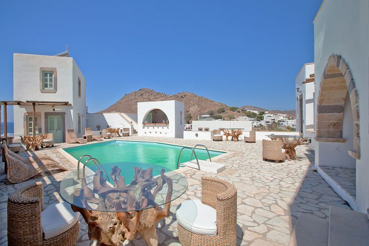 A quiet AcquaBlu morning, by the pool.. #patmos #BoutiqueHotel