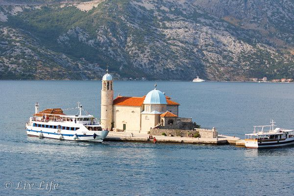 The Church of Our Lady Of the Rock - Kotor, Montenegro  #travel @livlifetoo