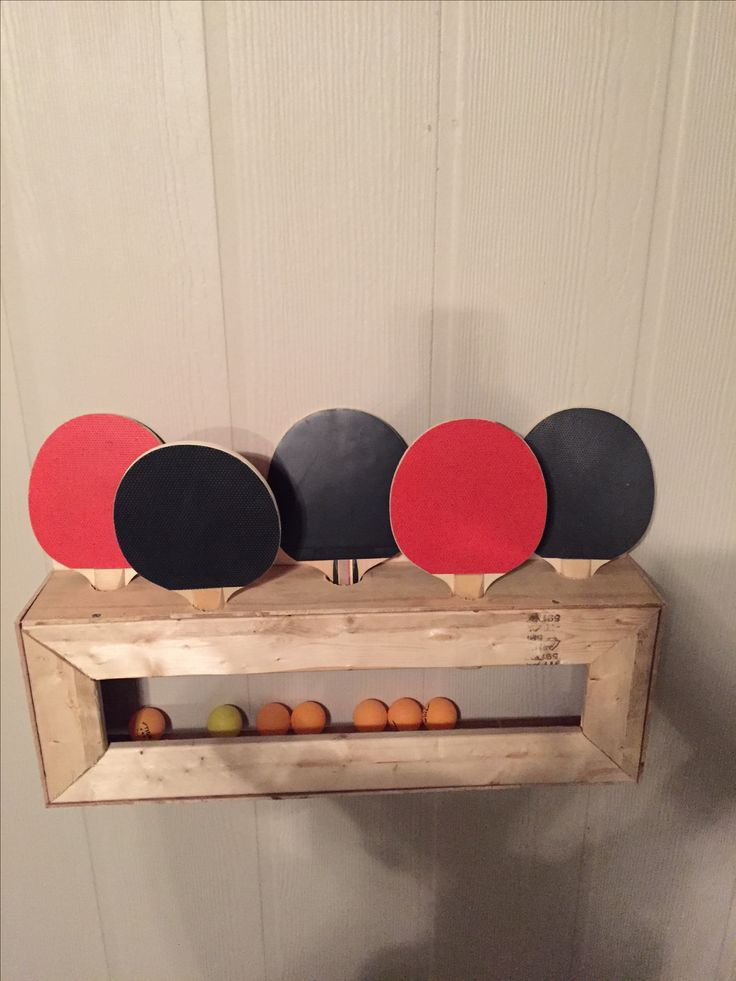 Diy Ping Pong Paddle And Ball Holder With Images Pool Table Room Table Tennis Room Ping